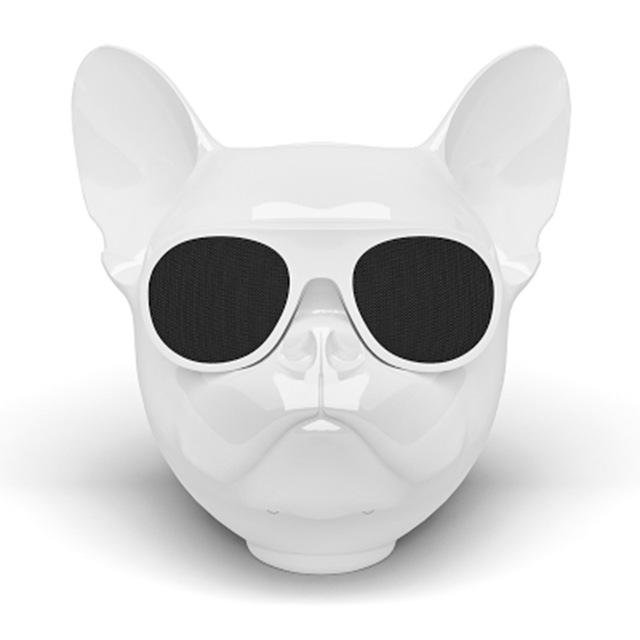 Frenchie World Shop White Frenchie Bluetooth Speaker