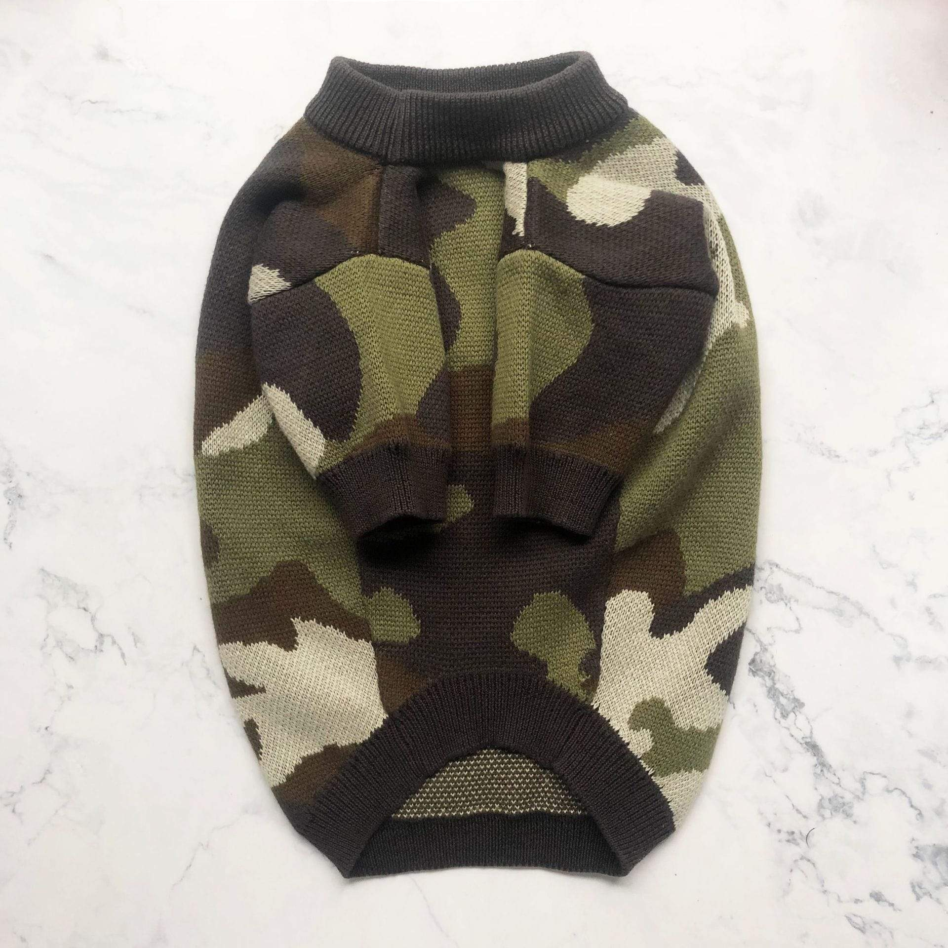 Frenchie World Shop Frenchie Camo Knitted Sweater