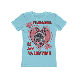 Printify T-Shirt Solid Cancun / L Frenchie Is My Valentine Women's Tee