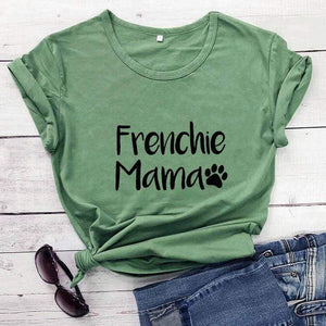 Frenchie World Shop olive-black text / XXXL / China Frenchie Mama Women's T-Shirt