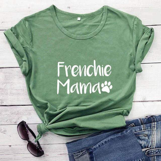Frenchie World Shop olive-white text / M / China Frenchie Mama Women's T-Shirt