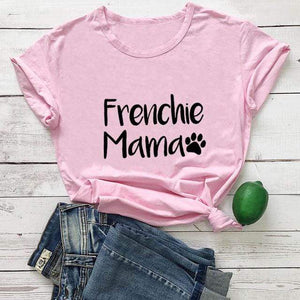 Frenchie World Shop pink-black text / M / China Frenchie Mama Women's T-Shirt