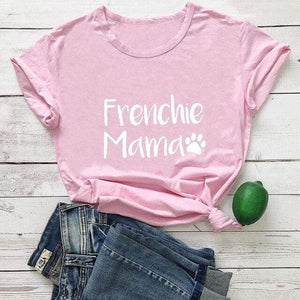 Frenchie World Shop pink-white text / XL / China Frenchie Mama Women's T-Shirt
