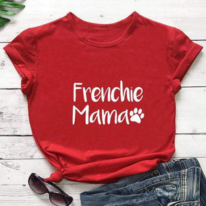 Frenchie World Shop red-white text / M / China Frenchie Mama Women's T-Shirt
