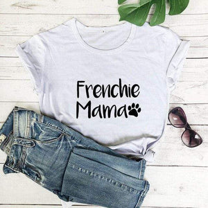 Frenchie World Shop white-black text / M / China Frenchie Mama Women's T-Shirt