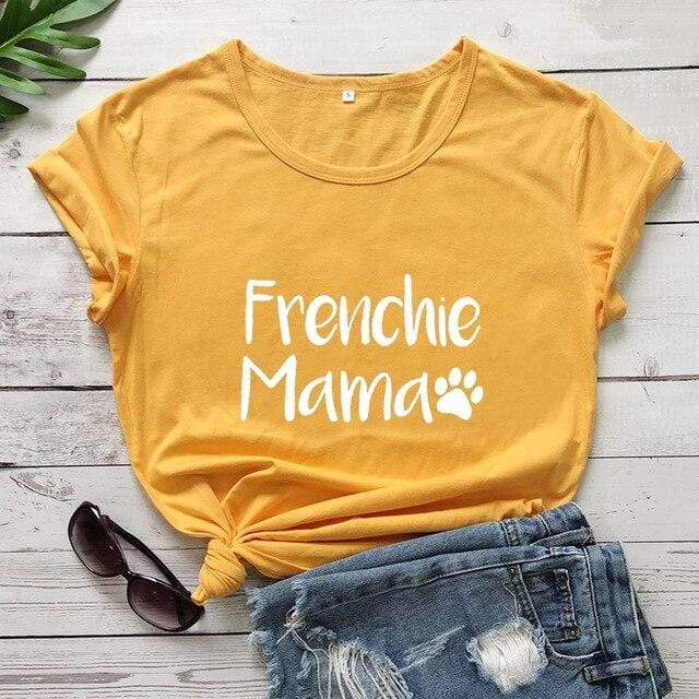 Frenchie World Shop yellow-white text / M / China Frenchie Mama Women's T-Shirt