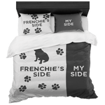 teelaunch Bedroom Set Queen Frenchie's Side Bedding Set
