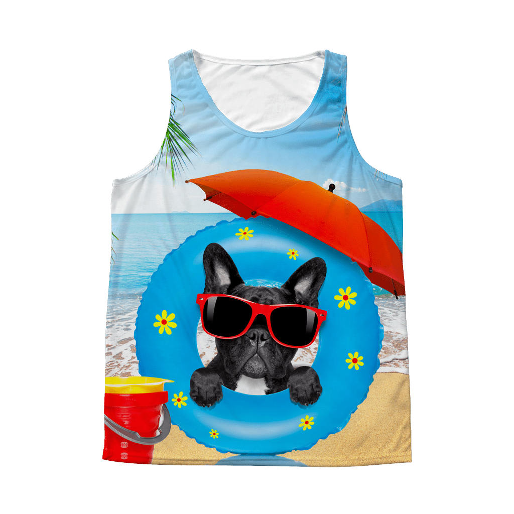 teelaunch All Over Print Frenchie Summer tank tops / S Frenchie Summer tank top