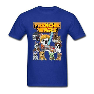 Frenchie World Shop Human clothing Blue / XS Frenchie Wars t-shirt
