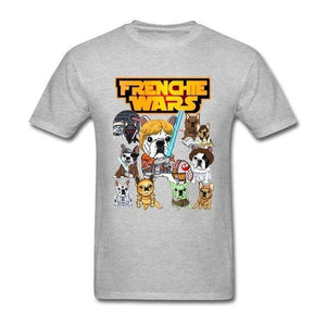 Frenchie World Shop Human clothing Gray / XS Frenchie Wars t-shirt