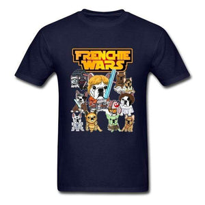 Frenchie World Shop Human clothing Navy / XS Frenchie Wars t-shirt