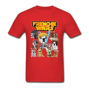 Frenchie World Shop Human clothing Red / XS Frenchie Wars t-shirt