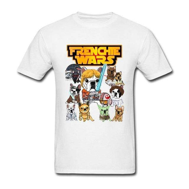 Frenchie World Shop Human clothing White / XS Frenchie Wars t-shirt