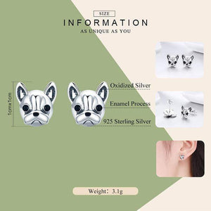 Frenchie World Shop Human accessories Frenchie World® 925 Sterling Silver Earrings