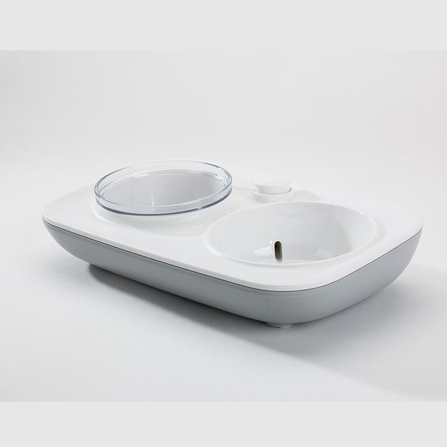 Frenchie World Shop Grey / 33x21x7cm Frenchie World Feeding Bowl With Automatic Water Dispenser