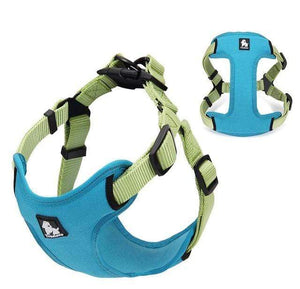 Frenchie World Shop Dog Accessories blue / L Frenchie World® Reflective protective harness