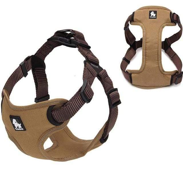 Frenchie World Shop Dog Accessories brown / L Frenchie World® Reflective protective harness