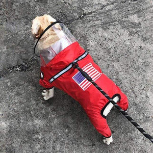 Frenchie World Shop Red / XL Frenchie World Waterproof Raincoat Jumpsuit