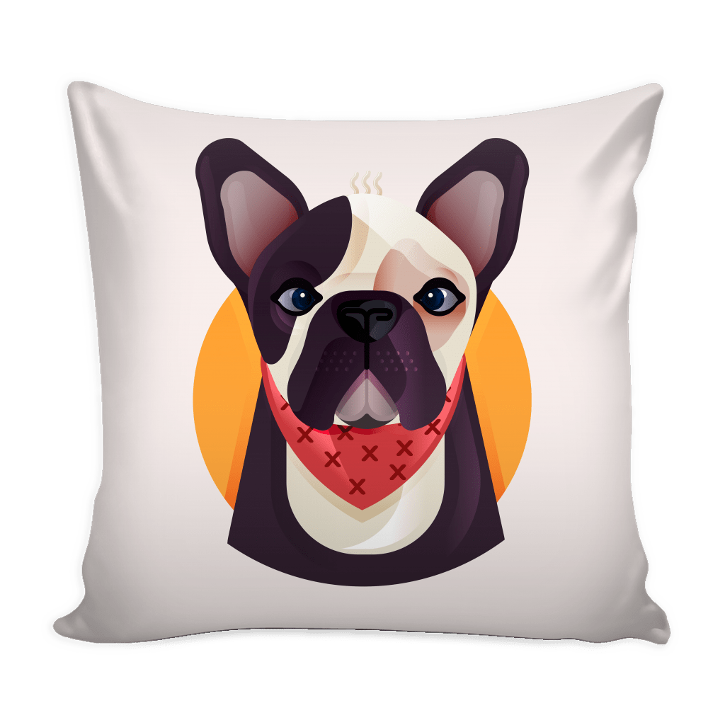 teelaunch Pillows Pillow (with insert) Frenchie World x Nickola Home Pillow