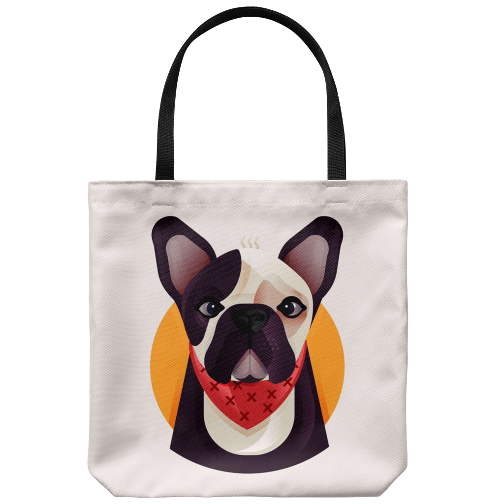 teelaunch Tote Bags Tote bag Frenchie World x Nickola Tote Bag