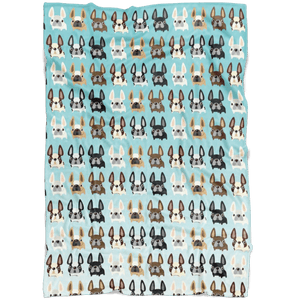 "teelaunch Blankets Small Fleece Blanket (40""x30"") Frenchies Overload Fleece Blanket"