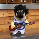 Frenchie World Shop Guitar Player dog costume