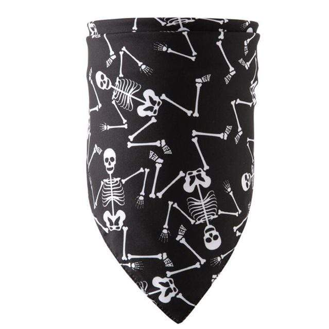 Frenchie World Shop black bone / M Halloween Dog Bandanas