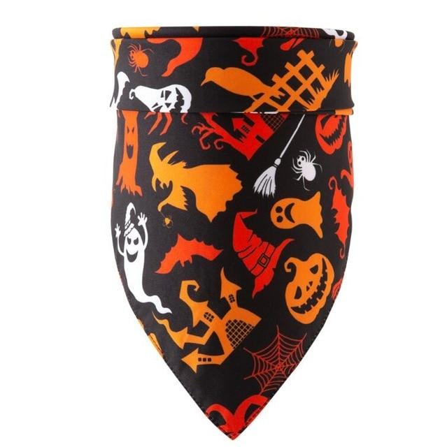 Frenchie World Shop black halloween / M Halloween Dog Bandanas