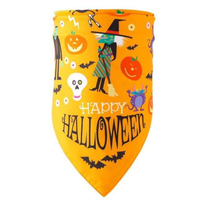 Frenchie World Shop yellow halloween / M Halloween Dog Bandanas