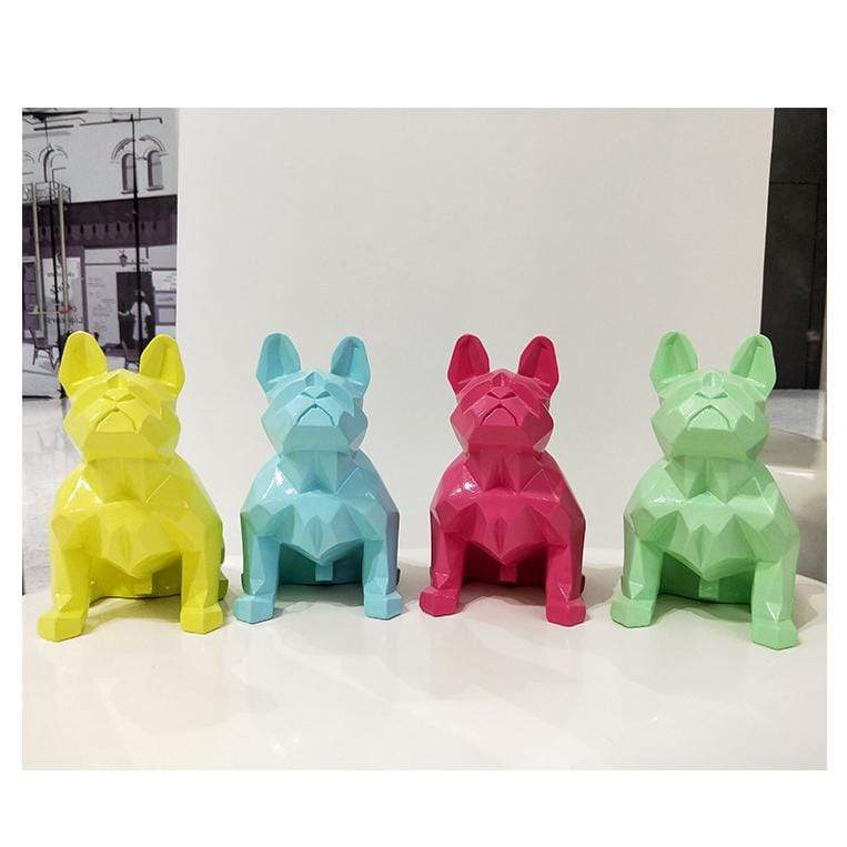 Frenchie World Shop Homeware Handmade geometric French bulldog sculpture