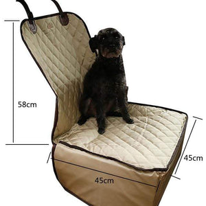Frenchie World Shop apricot 45x45x58cm / 40x30CM Hoomall Dog Carrier Breathable Vehicle Pet Carrier Mesh Foldable Puppy Cat Package Stable Pet Car Seat Front Seat Carriers