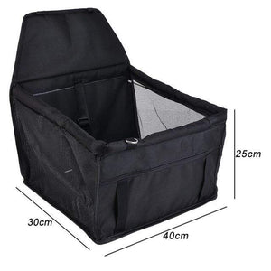 Frenchie World Shop black 40x30x25cm / 40x30CM Hoomall Dog Carrier Breathable Vehicle Pet Carrier Mesh Foldable Puppy Cat Package Stable Pet Car Seat Front Seat Carriers