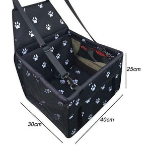 Frenchie World Shop black w 40x30x25cm / 40x30CM Hoomall Dog Carrier Breathable Vehicle Pet Carrier Mesh Foldable Puppy Cat Package Stable Pet Car Seat Front Seat Carriers