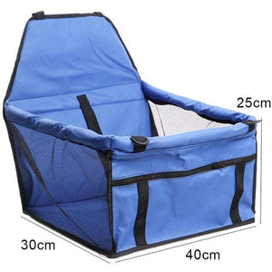 Frenchie World Shop blue 40x30x25cm / 40x30CM Hoomall Dog Carrier Breathable Vehicle Pet Carrier Mesh Foldable Puppy Cat Package Stable Pet Car Seat Front Seat Carriers