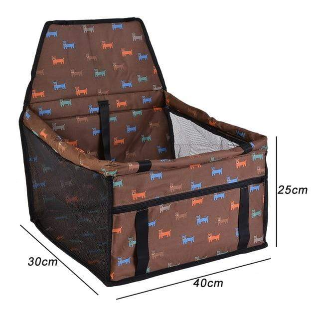 Frenchie World Shop coffee 40x30x25cm / 40x30CM Hoomall Dog Carrier Breathable Vehicle Pet Carrier Mesh Foldable Puppy Cat Package Stable Pet Car Seat Front Seat Carriers