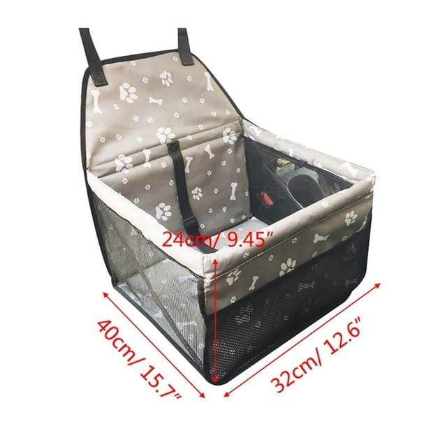 Frenchie World Shop Gray bone 40x30x25cm / 40x30CM Hoomall Dog Carrier Breathable Vehicle Pet Carrier Mesh Foldable Puppy Cat Package Stable Pet Car Seat Front Seat Carriers