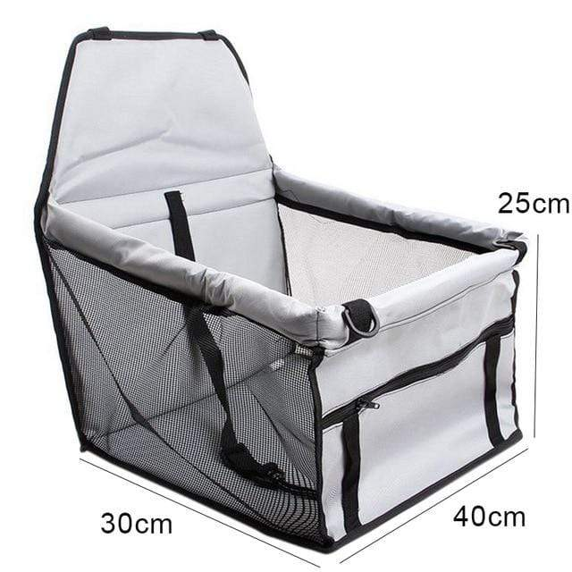 Frenchie World Shop grey 40x30x25cm / 40x30CM Hoomall Dog Carrier Breathable Vehicle Pet Carrier Mesh Foldable Puppy Cat Package Stable Pet Car Seat Front Seat Carriers