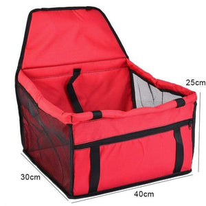 Frenchie World Shop red 40x30x25cm / 40x30CM Hoomall Dog Carrier Breathable Vehicle Pet Carrier Mesh Foldable Puppy Cat Package Stable Pet Car Seat Front Seat Carriers