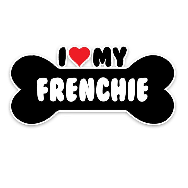 Frenchie World Shop Human accessories I Heart My Frenchie Bulldog Bumper Sticker
