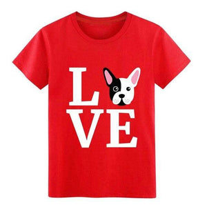 Frenchie World Shop Red / S I Love My French Bulldog t shirt