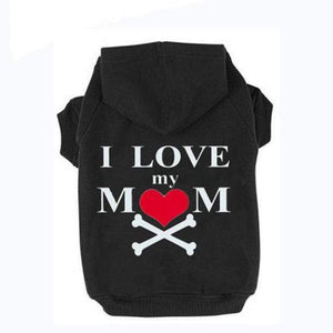 Frenchie World Shop Black / XS I Love My Mom Dog Hoodie