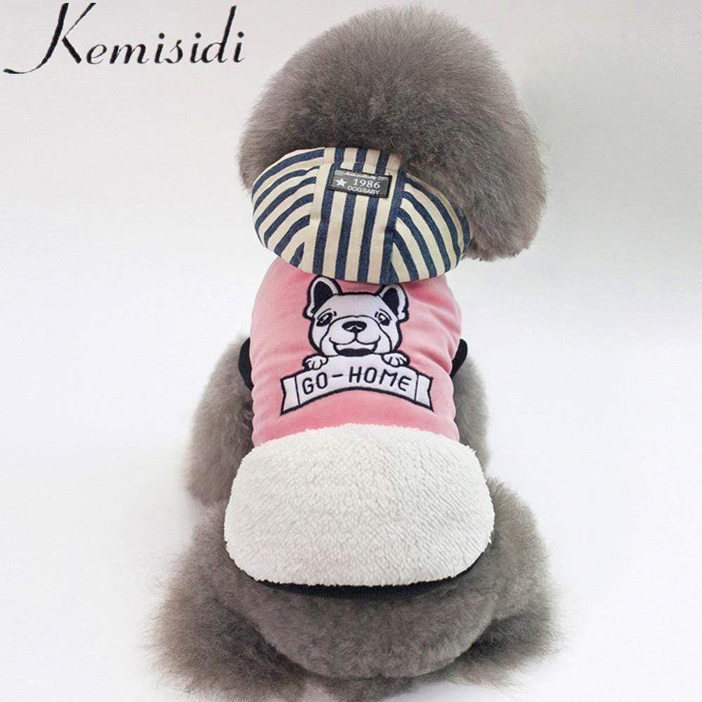 Frenchie World Shop KEMISIDI Winter Warm Pet Dog Clothes Two-legs Hoodie Small Dog Sweaters Coats Cotton Puppy Clothing Outfit for Chihuahua S-2XL