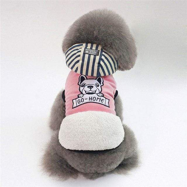 Frenchie World Shop pink / S KEMISIDI Winter Warm Pet Dog Clothes Two-legs Hoodie Small Dog Sweaters Coats Cotton Puppy Clothing Outfit for Chihuahua S-2XL