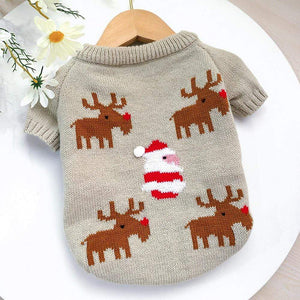 Frenchie World Shop Knitted Santa French Bulldog Sweater