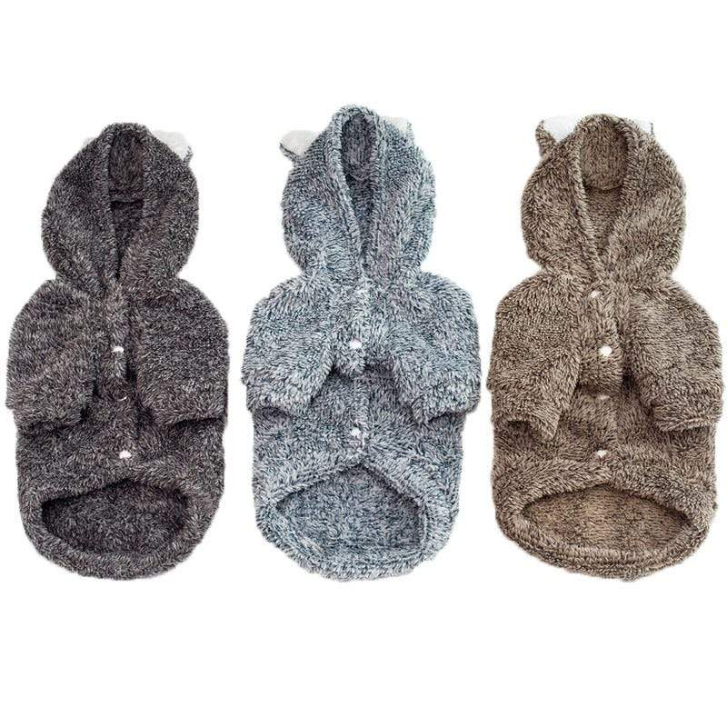 Frenchie World Shop Koala Fleece Dog Hoodie