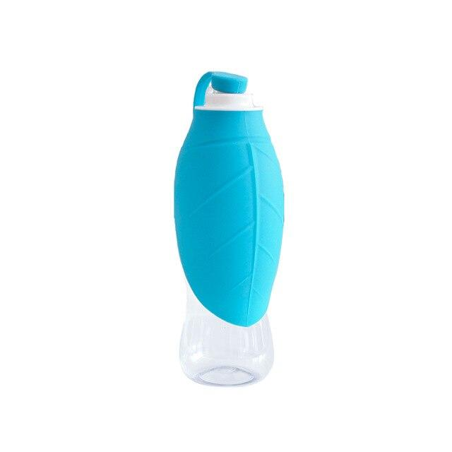 Frenchie World Shop Blue Leaf 600ml Portable Water Bottle