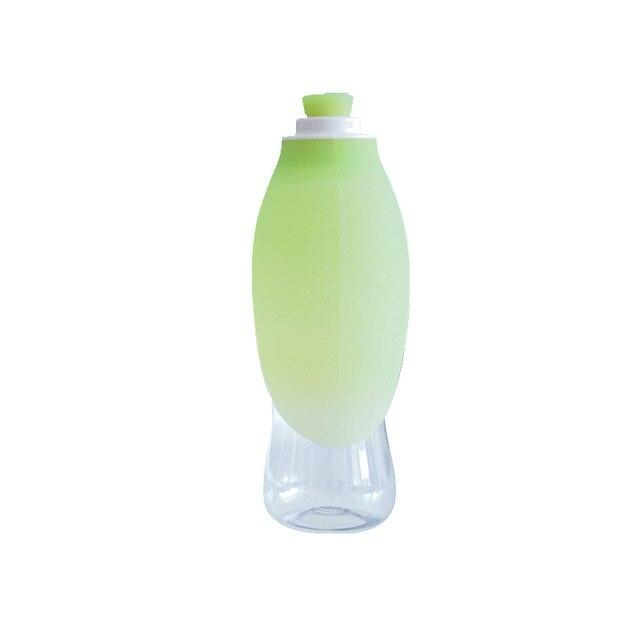 Frenchie World Shop Green Leaf 600ml Portable Water Bottle