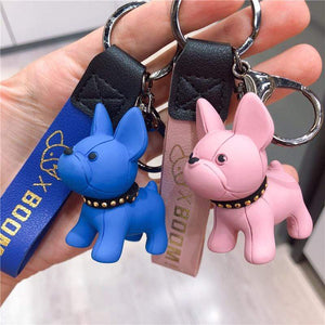 Frenchie World Shop Limited Edition Vinyl Frenchie Key Chains