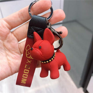 Frenchie World Shop as photos 2 Limited Edition Vinyl Frenchie Key Chains