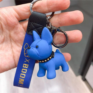 Frenchie World Shop as photos 3 Limited Edition Vinyl Frenchie Key Chains